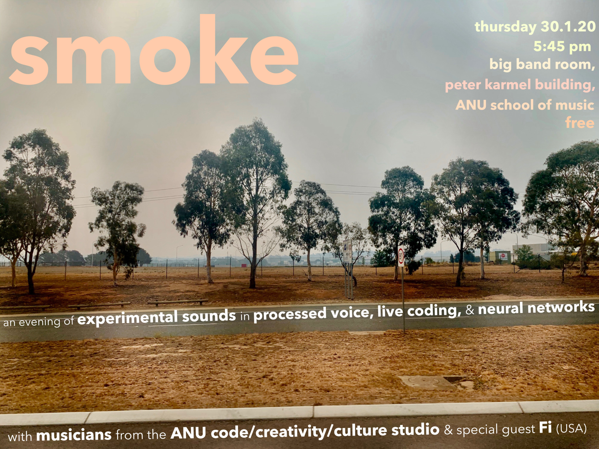 ad for Smoke gig - see FB event for details